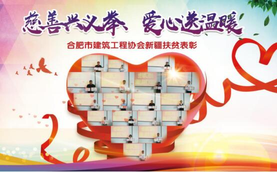 合肥市建筑工程协会召开新疆皮山县扶贫工作表彰会