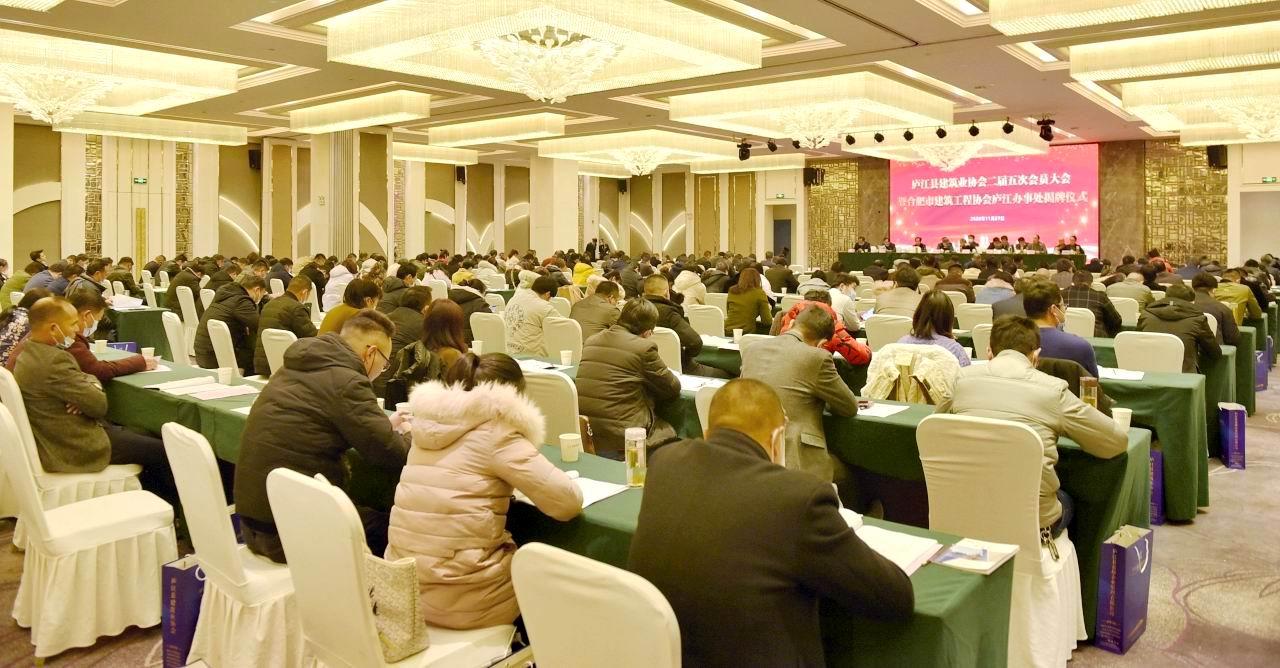 合肥市建筑工程协会庐江办事处揭牌仪式隆重举行