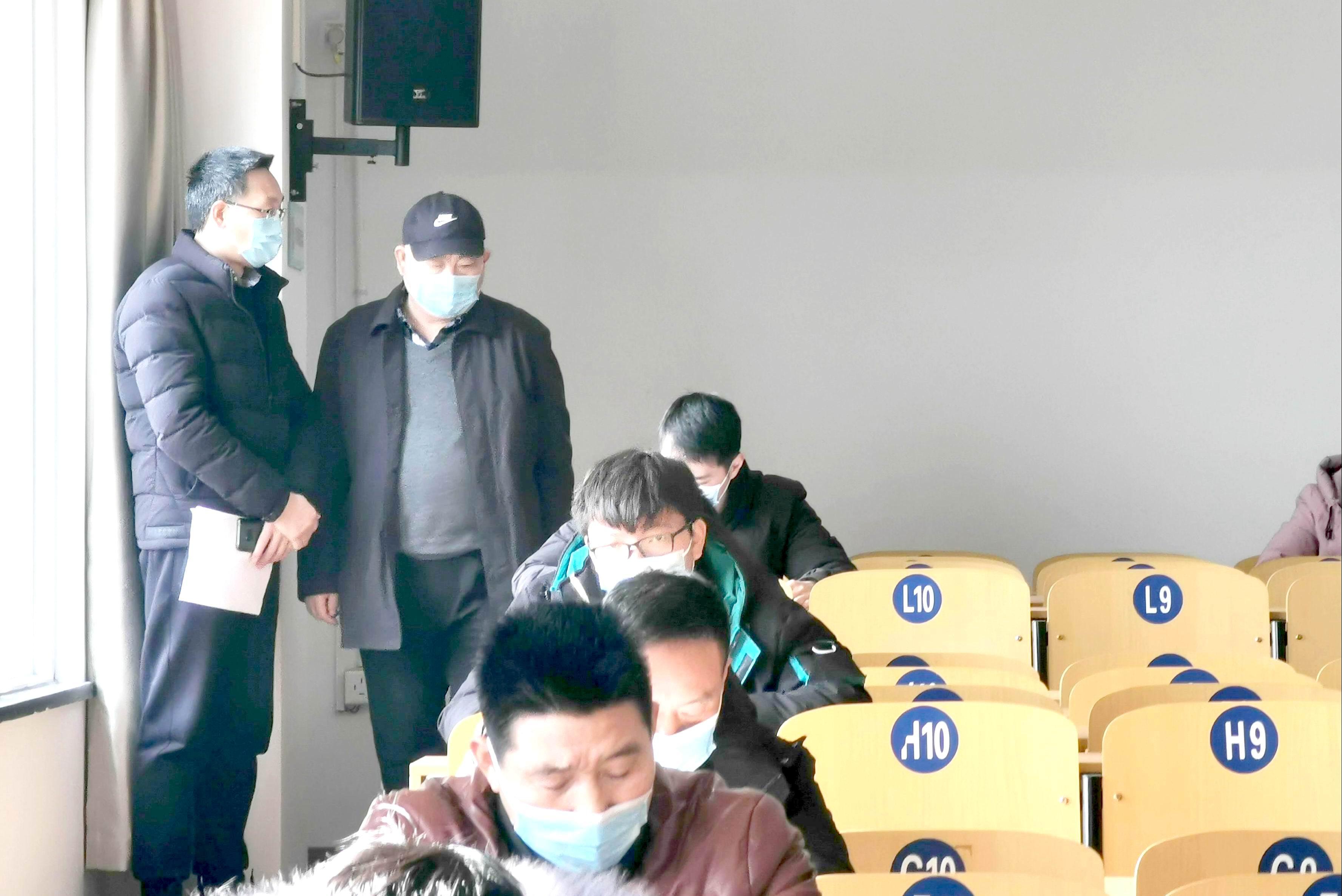 市城鄉建設局總工王榮村蒞臨見證取樣員取證考試現場巡考